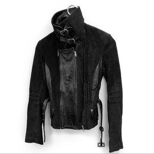 Anthropologie June leather moto jacket
